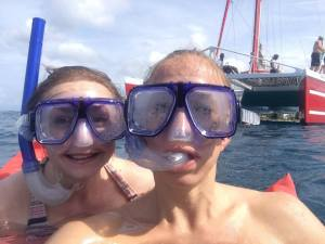 Jamaican catamaran snorkeling Fit Two Travel