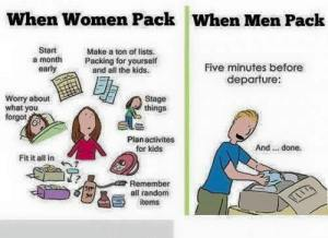 women pack vs men pack