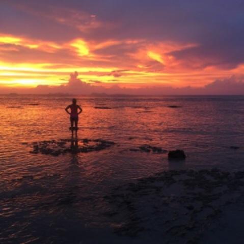 sunset Koh Lanta beach